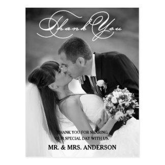 Carte postale l'épousant romantique de Merci du