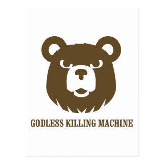 Carte Postale les machines athée de massacre d'ours câlinent le