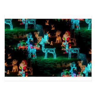 Carte Postale lumières de Noël