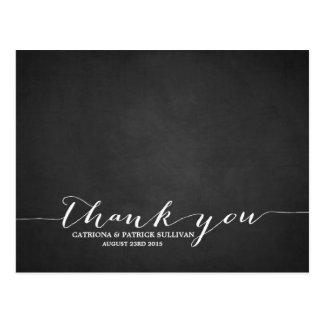 Carte postale manuscrite de Merci de tableau de