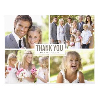 Carte postale moderne de Merci de mariage de colla