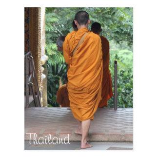 Carte Postale Moine bouddhiste Thaïlande