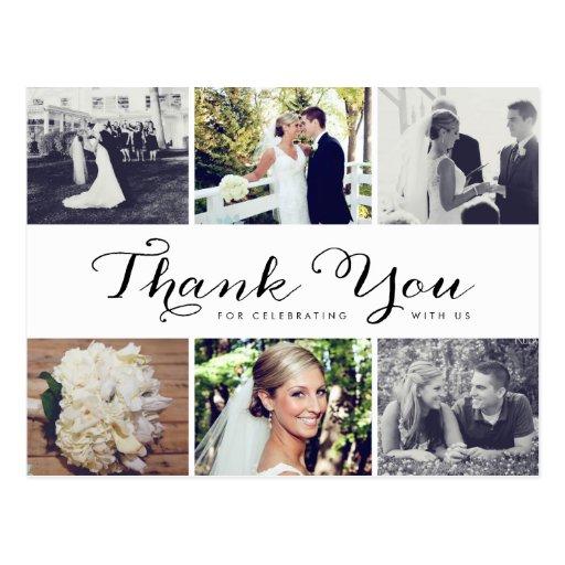 Carte postale multiple de Merci de mariage de