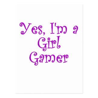 Carte Postale Oui Im un Gamer de fille