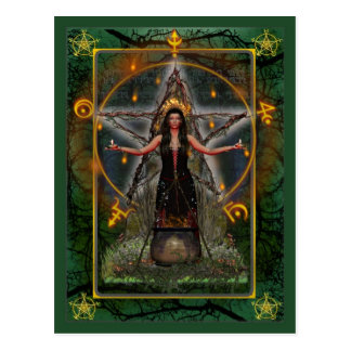 Carte postale païenne - ~ Earth de vert de