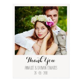 Carte postale polaroïd de Merci de photo de