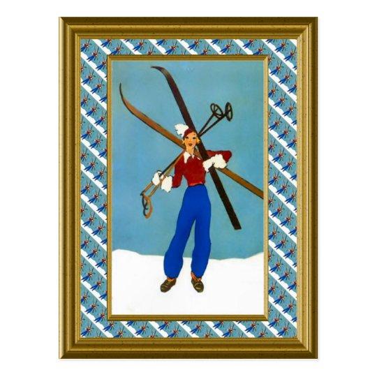 Carte Postale Préparez pour les pentes de ski | Zazzle.ca