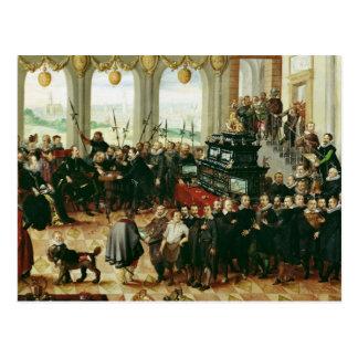 Carte Postale Présentation à duc Phillip II
