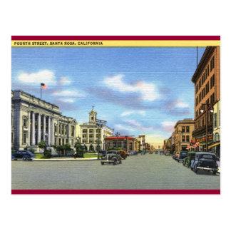Carte Postale Quatrième St, cru de Santa Rosa CA