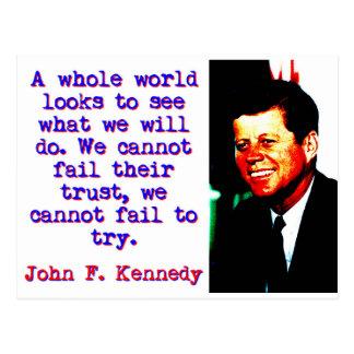 Carte Postale Regards entiers du monde - John Kennedy