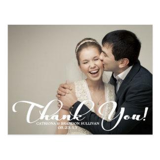 Carte postale romantique de Merci de photo de mari