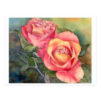 """Carte postale """"roses rouges"""" de beaux-arts,"""