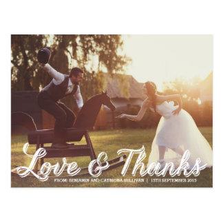 Carte postale rustique de Merci de mariage de