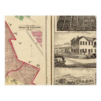 Carte Postale Santa Rosa et banlieues noires et vues de Sonoma