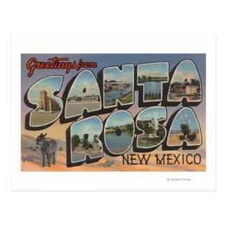 Carte Postale Santa Rosa, Nouveau Mexique - grandes scènes de