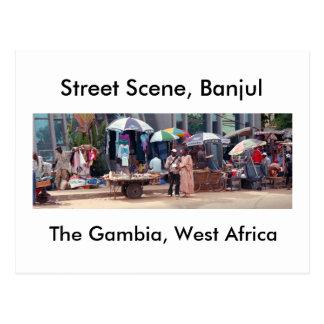 Carte postale, scène de rue, Banjul Cartes Postales