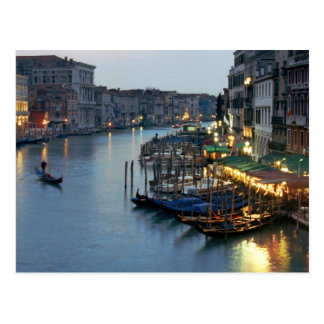 Carte Postale Soirée de Venise - canal grand
