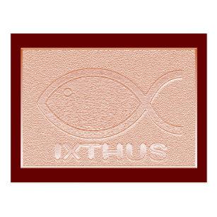 Carte Postale Symbole Chretien De Poissons DIXTHUS