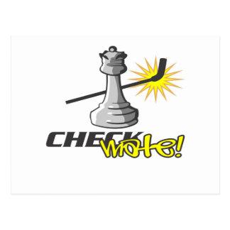Carte Postale T-shirts et cadeaux d'échecs