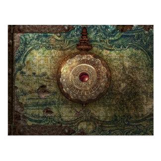carte postale trouvée de trésor