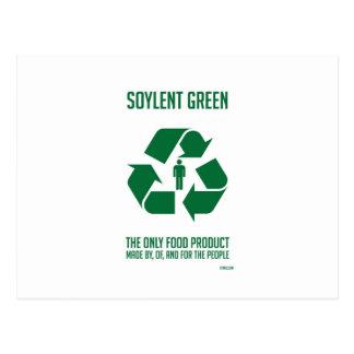 Carte postale verte de Soylent