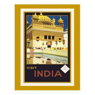 Carte postale vintage d affiche de voyage de l In