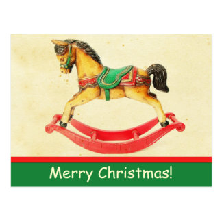 Carte postale vintage de cheval de basculage de