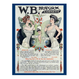 Carte postale vintage de corset