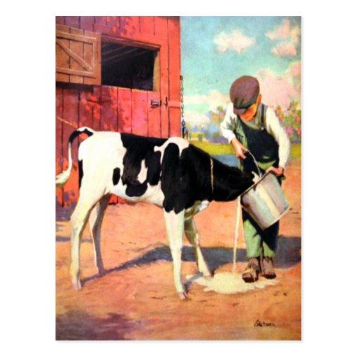 Carte postale vintage de la vieille ferme