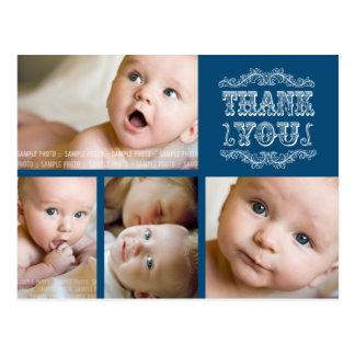 Carte postale VINTAGE de Merci de bébé de photo de