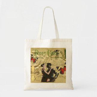 Carte postale vintage de tango de Paris Sac En Toile Budget