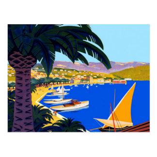 Carte postale vintage de voyage de Français de