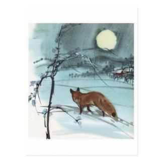 Carte postale vintage d'illustration