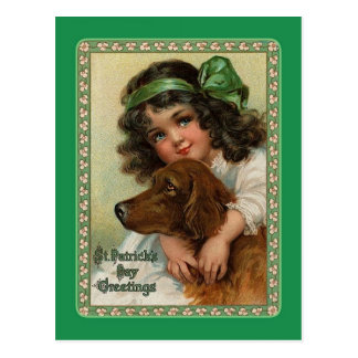 Carte postale vintage du jour de St Patrick