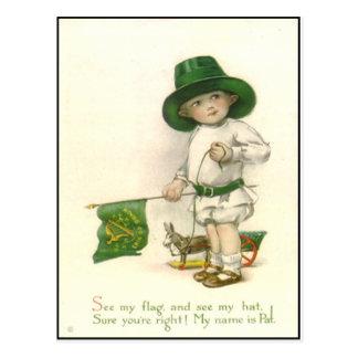 Carte postale vintage du jour de St Patrick d'Irla