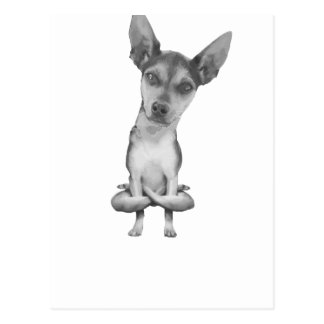 Carte Postale Yogi Doggie cute dog in yoga asana, cool funny