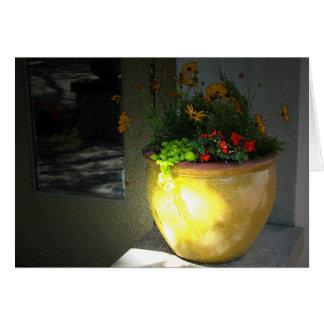 Carte Pot d'or de fleurs