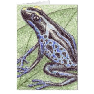 Carte pour notes bleu noir de grenouille
