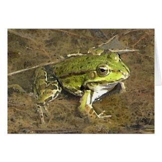 carte pour notes de grenouille