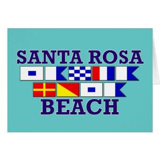 Carte pour notes de plage de Santa Rosa