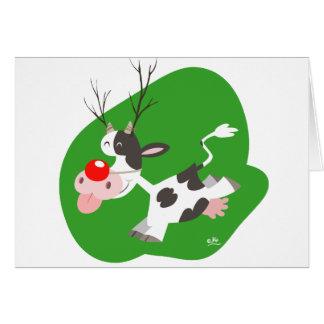 Carte pour notes de renne de Noël