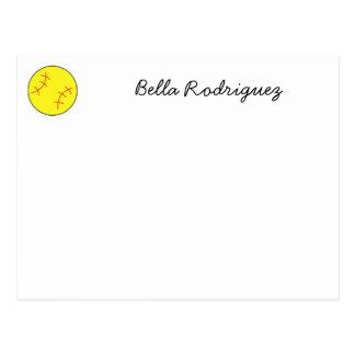 Carte pour notes du base-ball, carte postale, cust carte postale