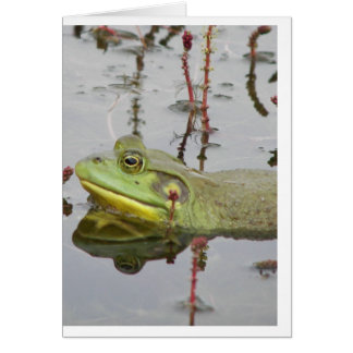 Carte pour notes heureux de grenouille