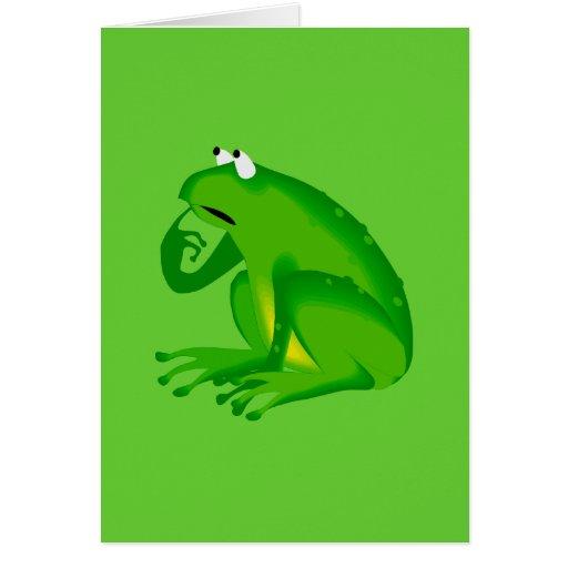 Carte pour notes-Juste pour la grenouille Enfant-É