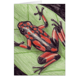 Carte pour notes noir rouge de grenouille