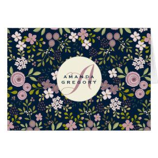 Carte pour notes personnalisé floral de jardin