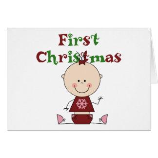 Carte Premiers T-shirts et cadeaux de Noël de bébé