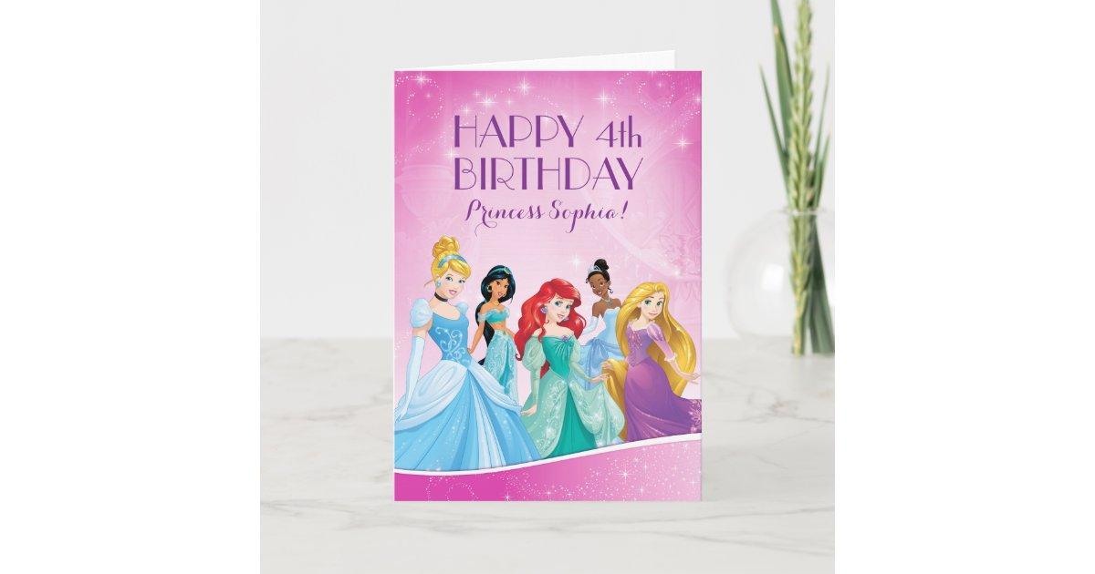 Carte Princesse Disney Joyeux Anniversaire Zazzle Ca