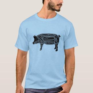 Carte principale de porc tee-shirt