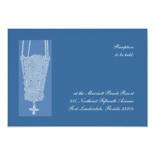 Carte Réception bleue de Kandili